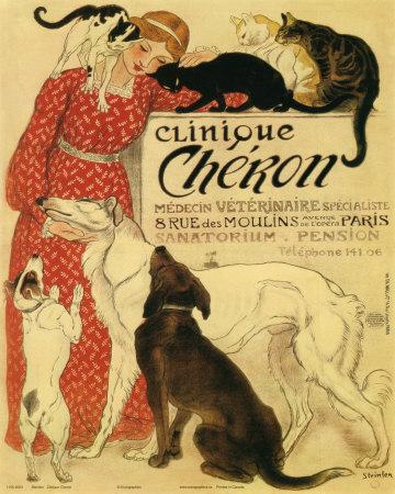 Clinique Cheron, c.1905 Posters by Théophile Alexandre Steinlen