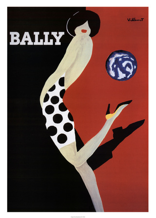 Bally Print by Bernard Villemot