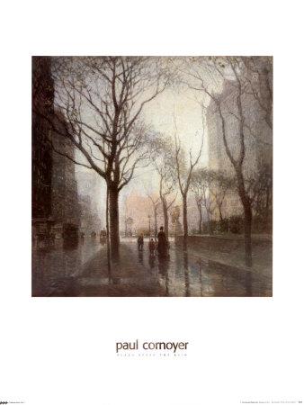 Plaza After the Rain Prints by Paul Cornoyer