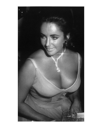 Elizabeth Taylor with Necklace Art