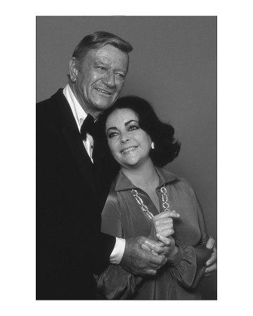 John Wayne and Elizabeth Taylor Art