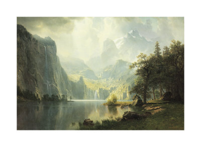 In the Mountains Posters by Albert Bierstadt