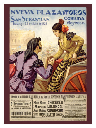 Spanish Bullfight, 1928 Giclee Print