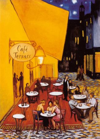 Cafe Terrace Art by David Marrocco