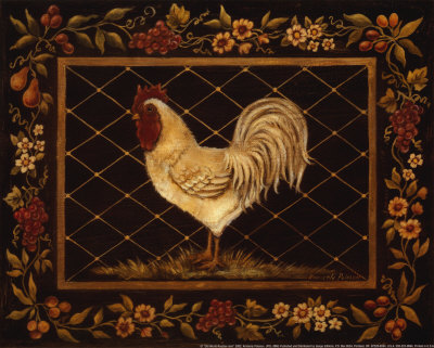 Old World Rooster Posters by Kimberly Poloson