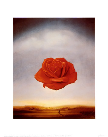 Rose Meditative, c.1958 Poster by Salvador Dalí