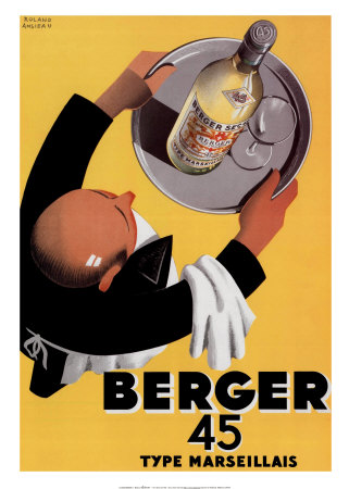 Berger 45 Posters by Roland Ansieau