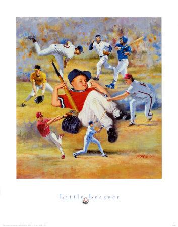 Little Leaguer Prints by Clement Micarelli