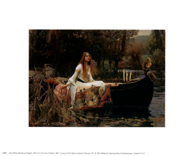 The Lady of Shalott, 1888 Poster by John William Waterhouse