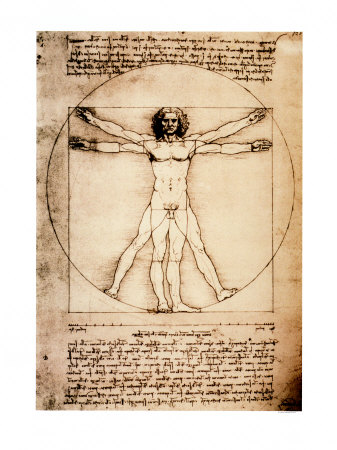 Vitruvian Man, c.1492 Poster by Leonardo da Vinci at AllPosters.