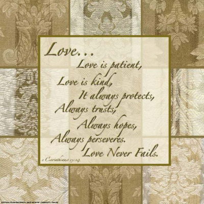 Words to Live By: Love Is Patient Posters by Marilu Windvand