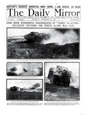 Some More Wonderful Photographs of Tanks in Action, 1000 Pounds was Paid for Exclusive Pictures Premium Giclee Print