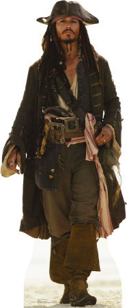 Captain Jack Sparrow Lifesize Standup Papfigurer