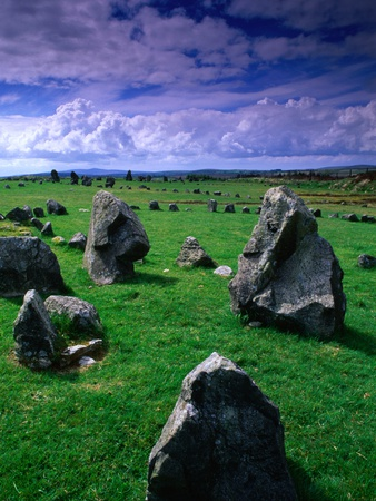 Beaghmore Stone Circles from the Bronze Age, Tyrone, Northern Ireland Photographic Print by Gareth McCormack