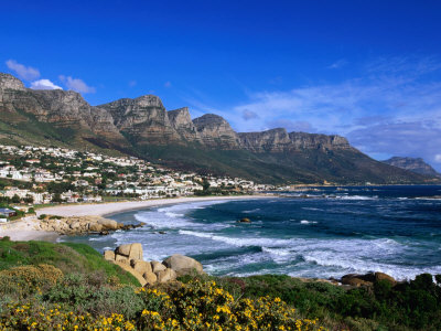 Beach at Camps Bay, Cape Town, South Africa Photographic Print