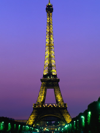Eiffel Tower at Night Paris, France Photographic Print