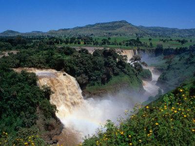 Blue Nile Falls or Tis Abay (Smoke of the Nile), Blue Nile Falls, Amhara, Ethiopia Photographic Print by Ariadne Van Zandbergen