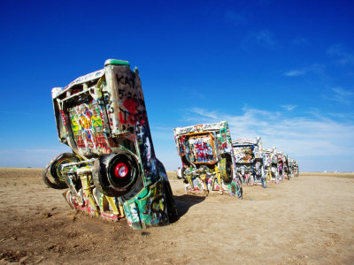 Cadillac Ranch, Amarillo, U.S.A. Photographic Print