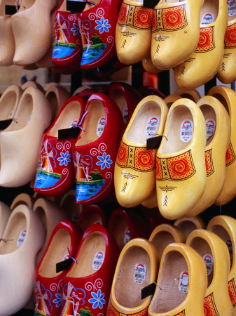 Clogs at Albert Cuyp Straat Market, Amsterdam, Netherlands Photographic Print by Richard Nebesky