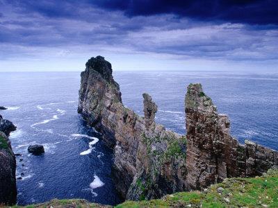 Coastal Rock Outcrops at Dun Balair, Tory Island, Ireland Photographic Print by Gareth McCormack