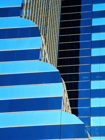 Detail of Citibank Building,Chicago, Illinois, USA Photographic Print by Richard Cummins