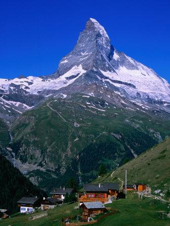 Matterhorn Towering Above Hamlet of Findeln, Valais, Switzerland Photographic Print by Gareth McCormack