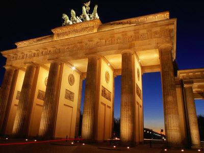 Brandeburg Gate at Dusk, Berlin, Germany Photographic Print by Richard Nebesky