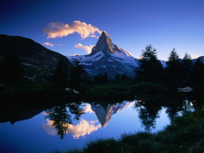 Reflection of the Matterhorn in Waters of Grindjisee, Switzerland Photographic Print by Gareth McCormack