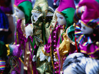 Dolls Decorated for Mardi Gras Carnival, New Orleans, Louisiana,