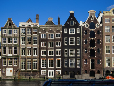 Row of Buildings, Amsterdam, Netherlands Photographic Print by Richard Nebesky