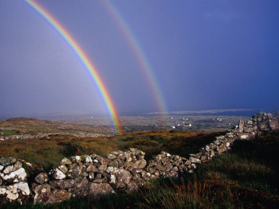 Rainbow Over Stone Walls, Ireland Photographic Print by Gareth McCormack