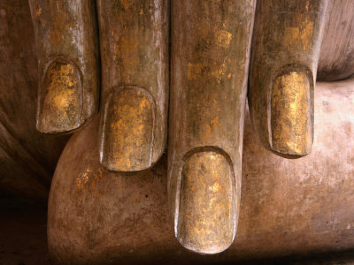 The Hands of Buddha at Wat Si Chum in Sukhothai Historical Park, Sukhothai, Thailand Photographic Print