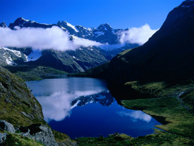 Lake Adelaide and Darran Mountains, Fiordland National Park, Southland, New