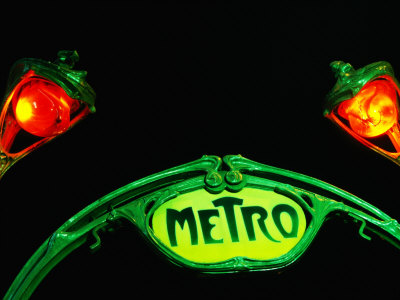 paris metro sign. Art-Nouveau Metro Chateau