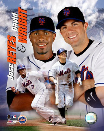 Jose Reyes and Dave Wright Photo