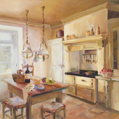 French Kitchen II Lámina