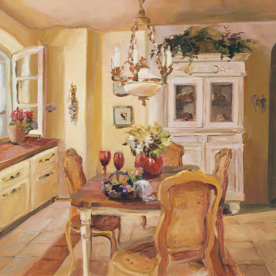 French Kitchen I Lámina