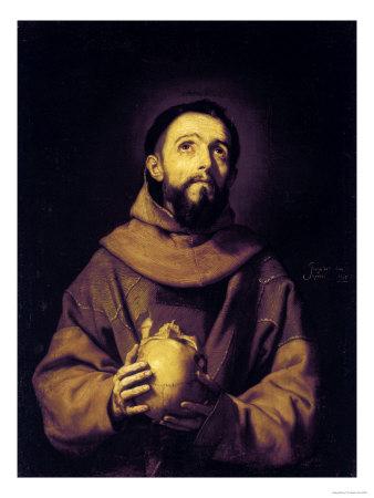 St. Francis, Palatine Gallery, Pitti Palace, Florence Giclée-tryk af Jusepe de Ribera