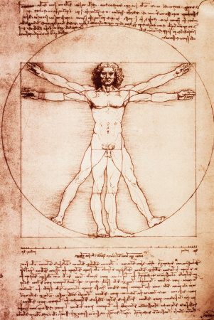 Człowiek witruwiański plakat