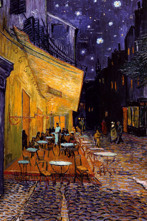 Forum Meydanında Teras Kafe, Arles, Gece, c. 1888 (The Café Terrace on the Place du Forum, Arles, at Night, c.1888) Poster