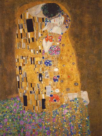 El beso, c.1907 Lámina