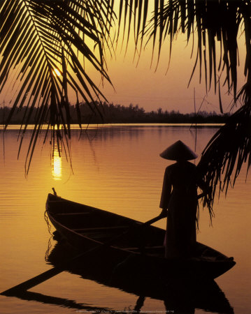 Vietnam, Cantho on the Mekong River Art Print