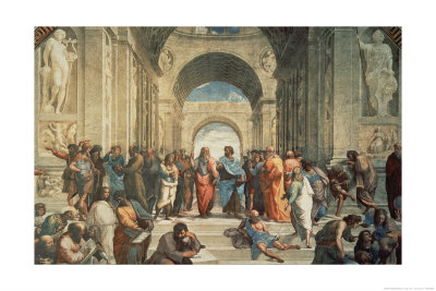 The School of Athens, c.1511 (detail) Art Print