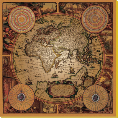 Cartographica I Stretched Canvas Print