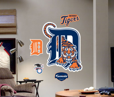 Detroit Tigers Logo -Fathead Wall Decal at AllPosters.com