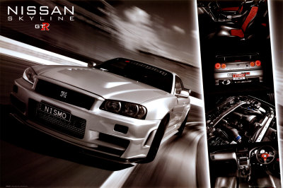 Nissan Skyline GTR Plakat