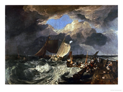 Calais Pier, with French Fishermen Preparing for Sea: an English Packet Arriving Giclee Print by J. M. W. Turner