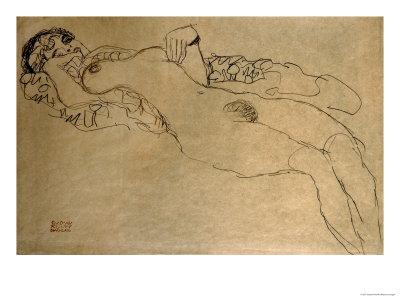 Female Nude Turned Left, 1914/15 Giclee Print by Gustav Klimt