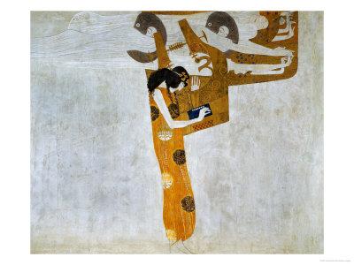 Beethovenfrieze, Allegory of Poetry Giclee Print by Gustav Klimt