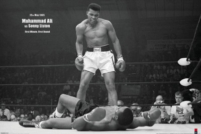 Mohammed Ali contre Sonny Liston Affiche